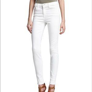 J BRAND Maria Blanc white skinny jeans